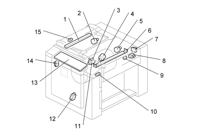 基士得耶CP6203C数码印刷机内部配件位置布局及作用介绍(一)